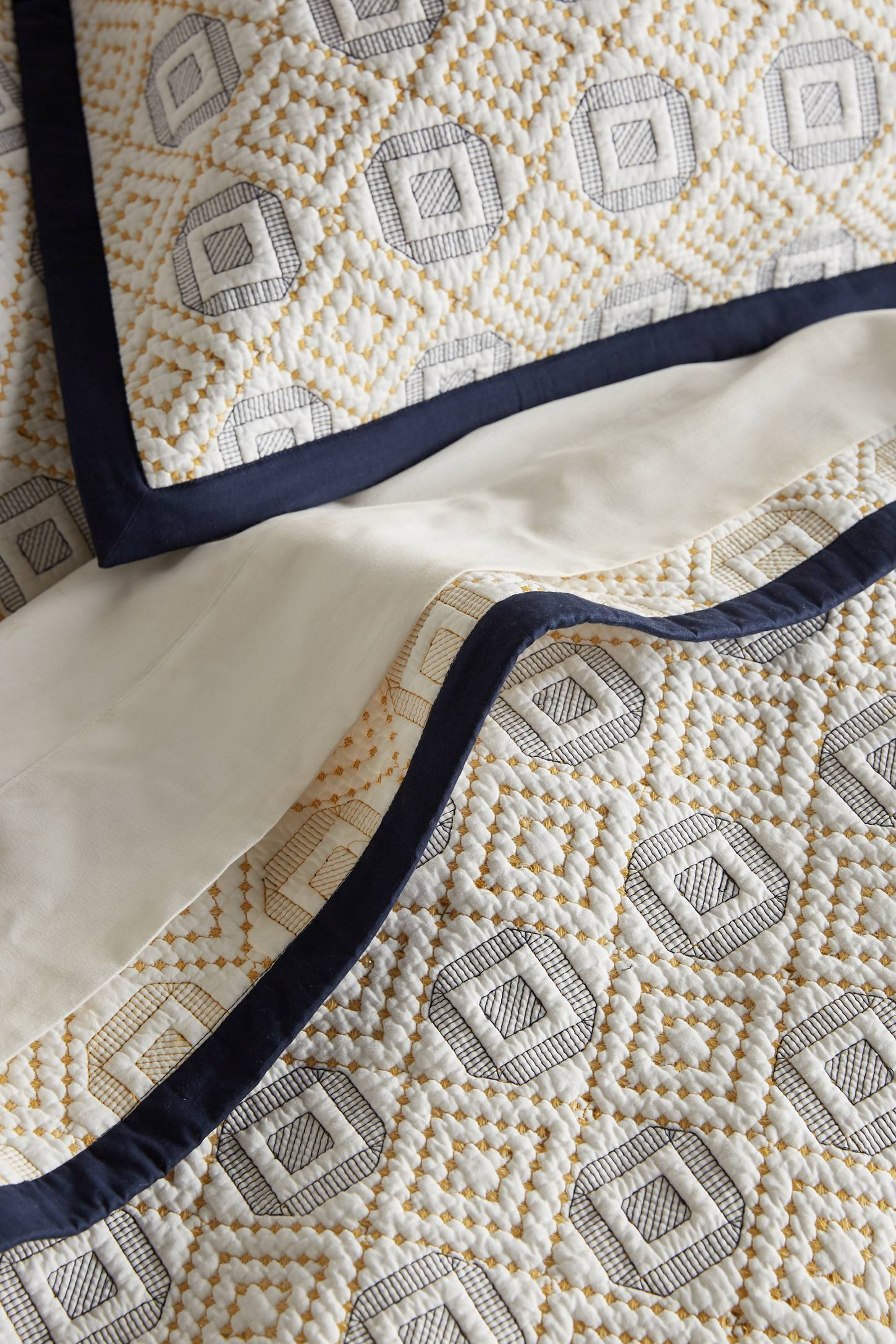 Diamond-Stitched Coverlet