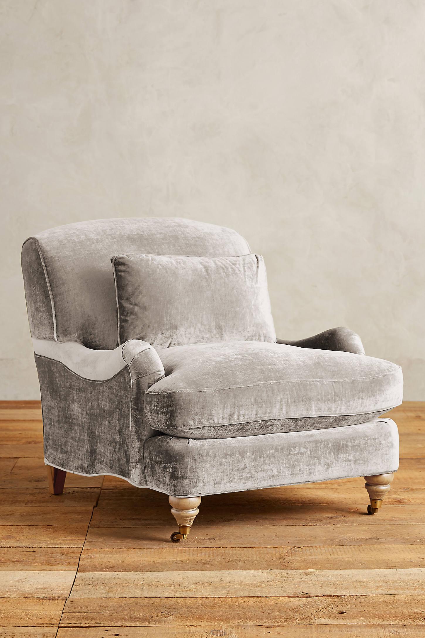Slub Velvet Glenlee Chair, Wilcox
