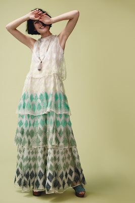 Embroidered Cypress Maxi Dress