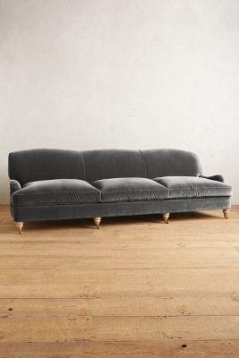 Velvet Glenlee Grand Sofa, Wilcox