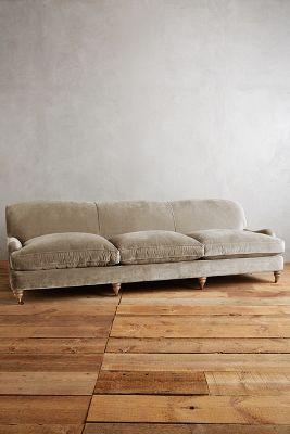 Slub Velvet Glenlee Grand Sofa, Wilcox