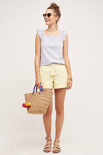 Tasseled Dobby Shorts