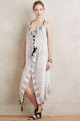 Tasseled Halter Beach Dress