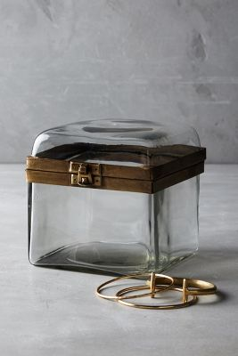 Smoky Glass Jewelry Box