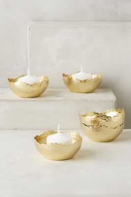 Hammered Gleam Tea Lights