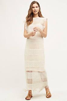 Fringed Crochet Maxi Dress