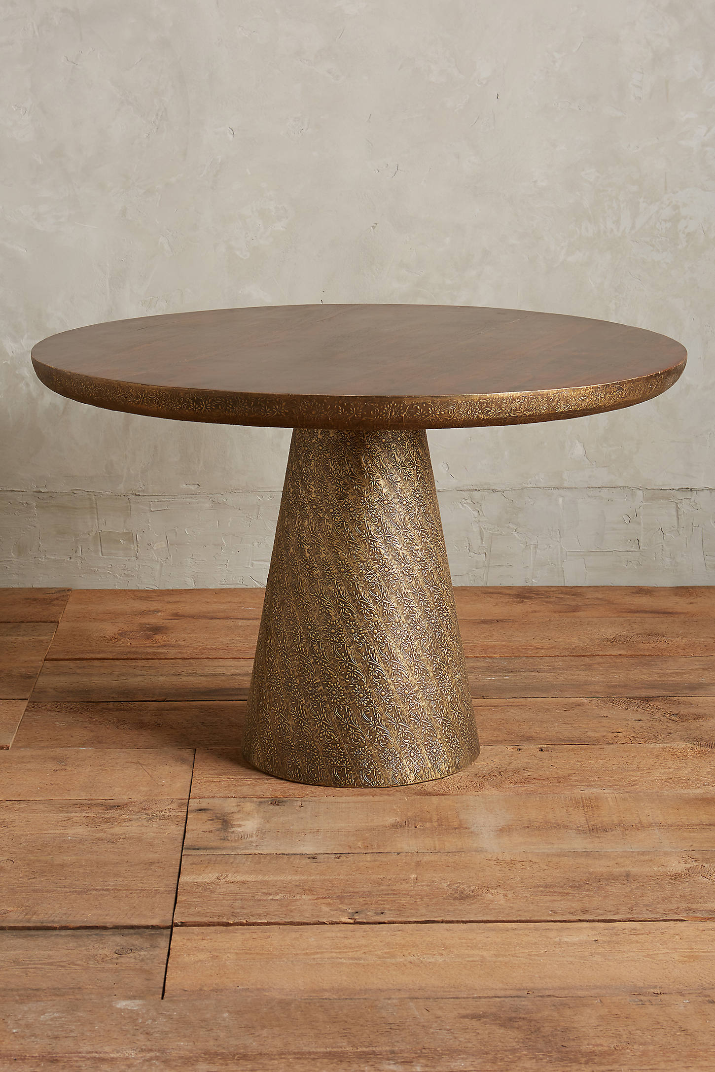 Hand-Embossed Floral Dining Table