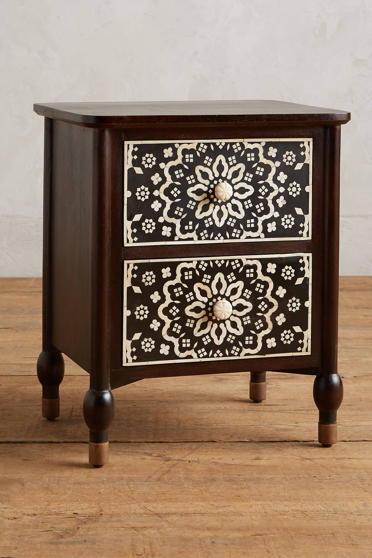Tapestry Inlay Bedside Table