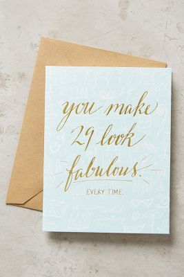 29 & Fabulous Card