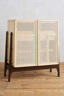 Patchwork Cane Bar Cabinet