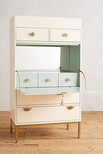 Brass Key Secretary Desk