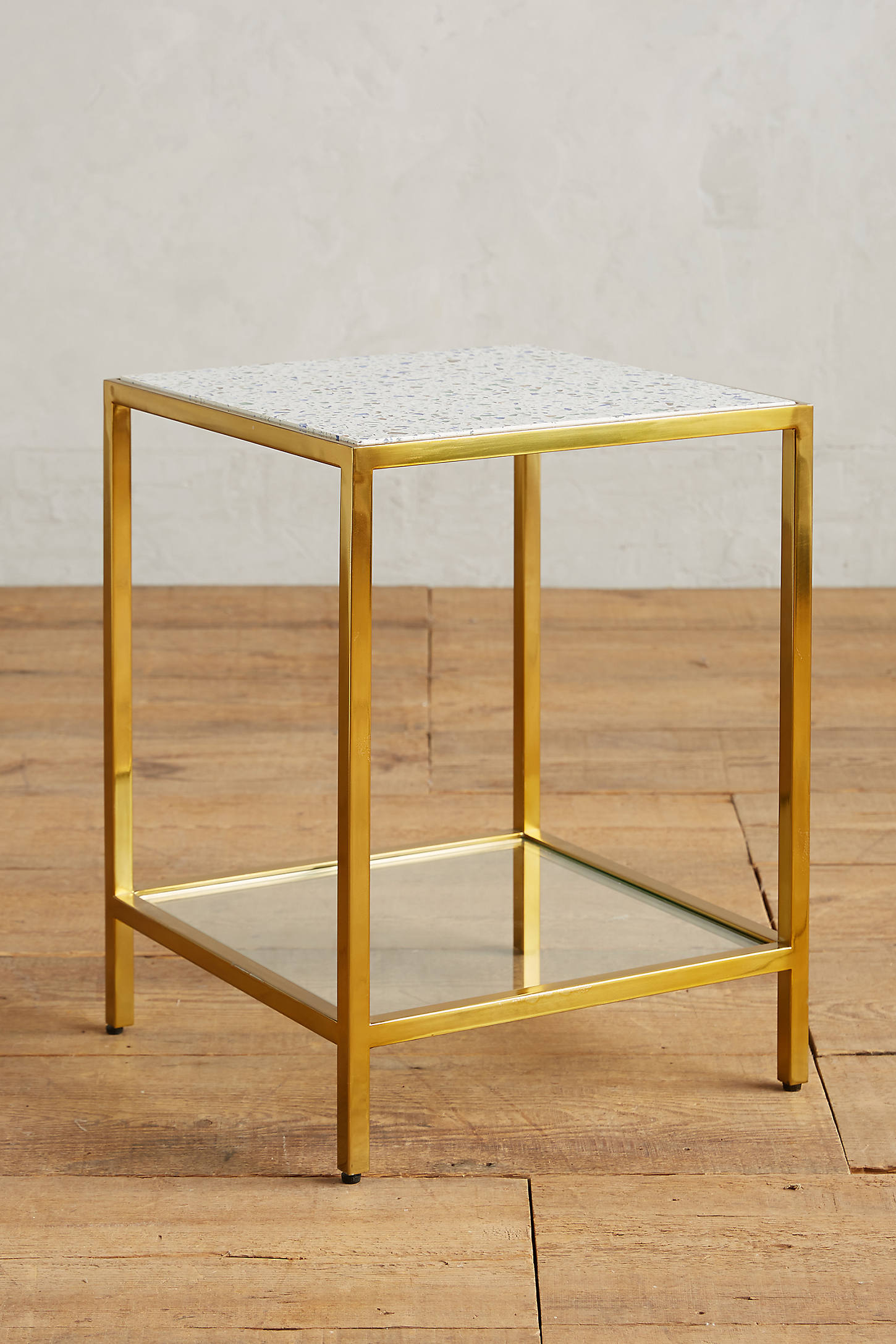 Framed Terrazzo Side Table