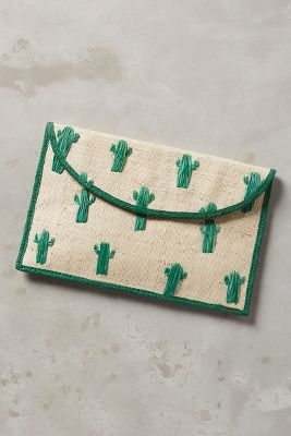 Cactus Envelope Clutch