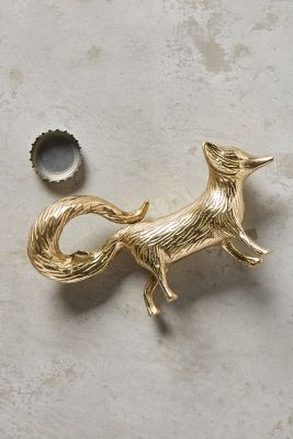 Brass Fox Bottle Opener