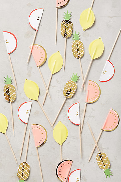 Love these pineapple party picks
