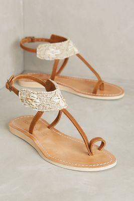 Cocobelle Bali Sandals Ivory 37 Euro Sandals