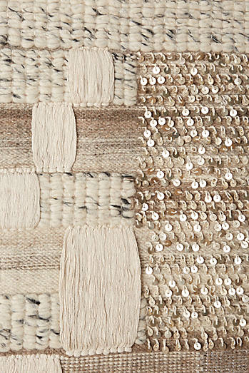 Navy-Dipped Kilim Tapestry Wall Art