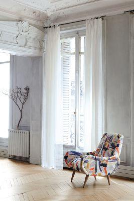 Brushstroke-Printed Losange Chair