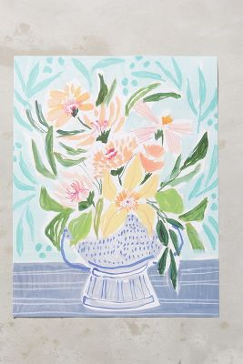 Flowers For Friends Print