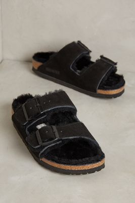 Birkenstock Shearling Arizona Slides