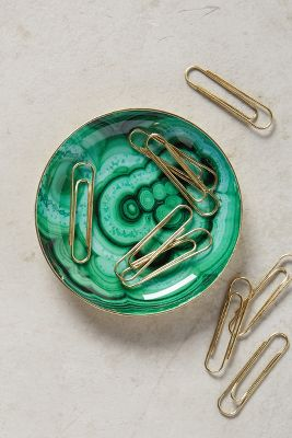 Malachite Trinket Dish