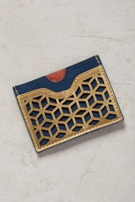 Lasercut Leather Card Holder