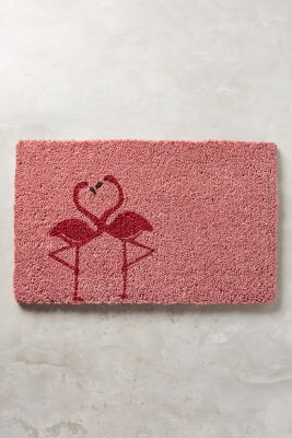 Flamingo Love Doormat