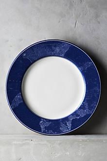 Caskata Blue Chart Dinner Plate