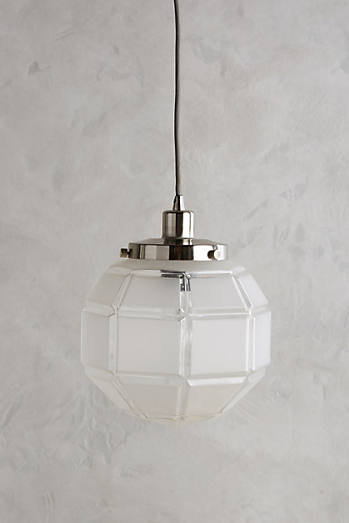 Frosted Facet Globe Pendant