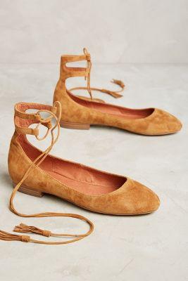 Matiko Jade Lace-Up Flats