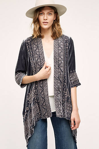 Savannah Velvet Kimono