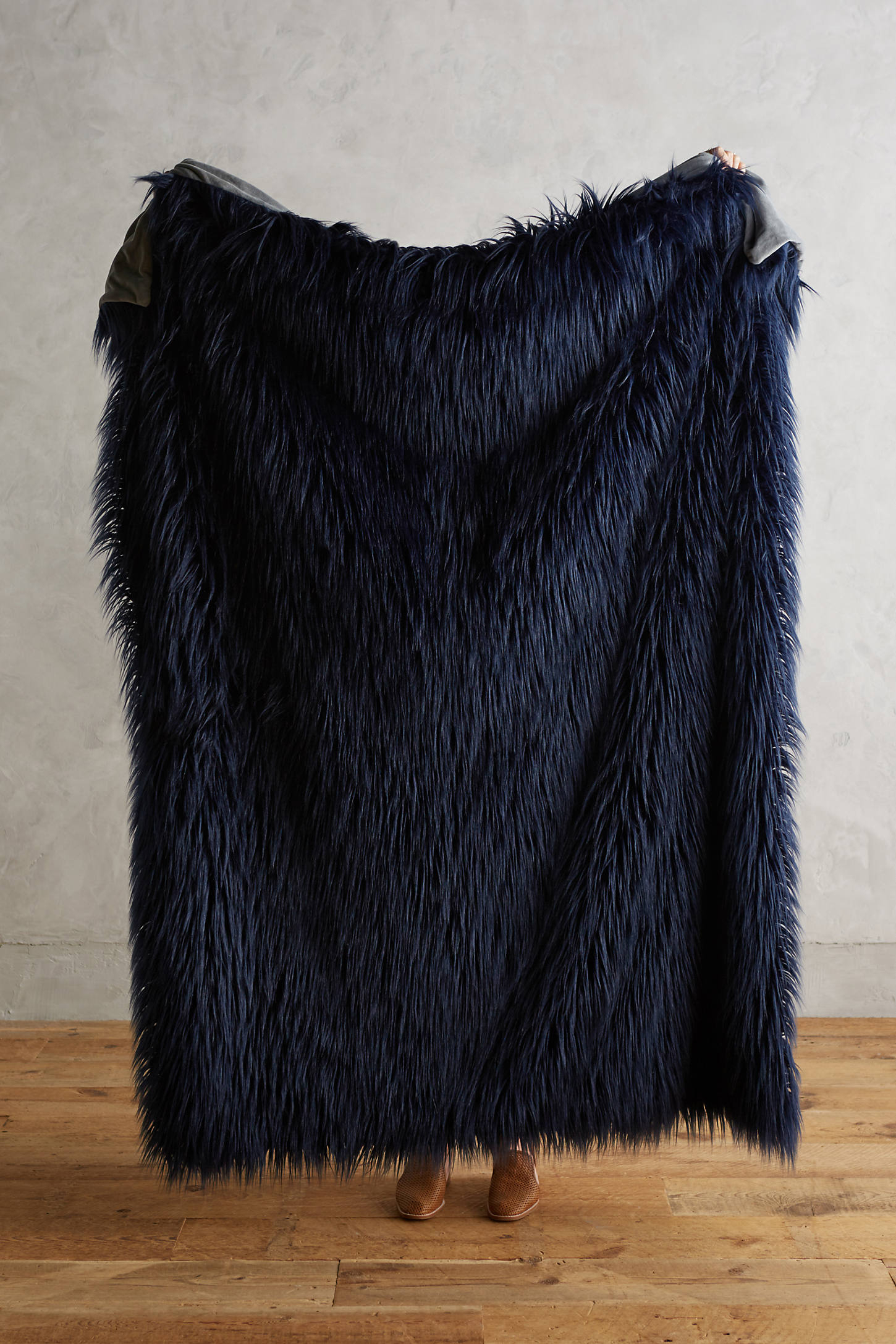Chroma Faux Fur Throw