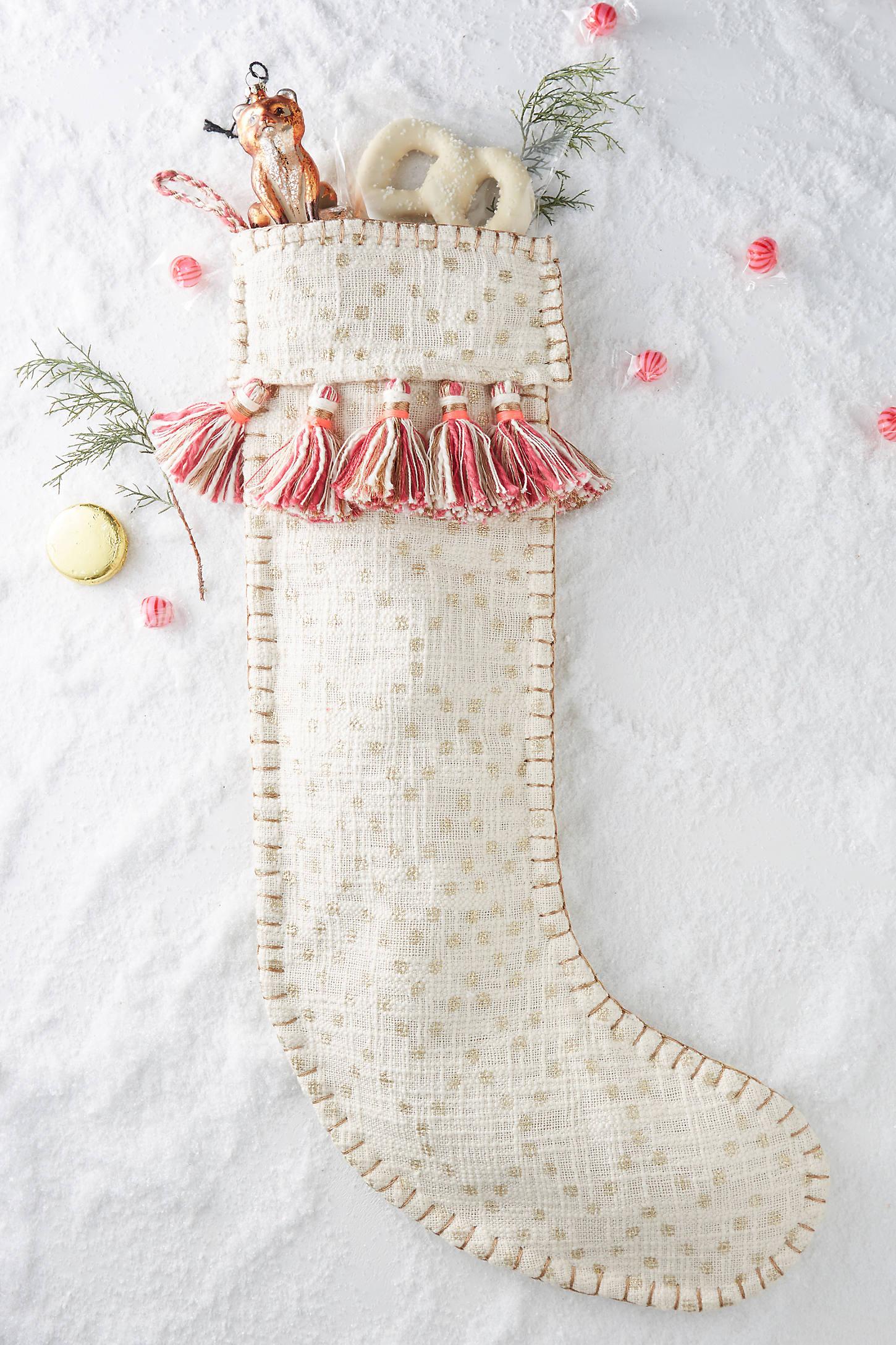 Tasselled Christmas Stocking