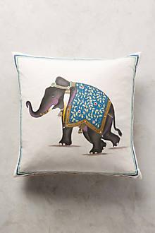John Robshaw Indian Elephant Pillow