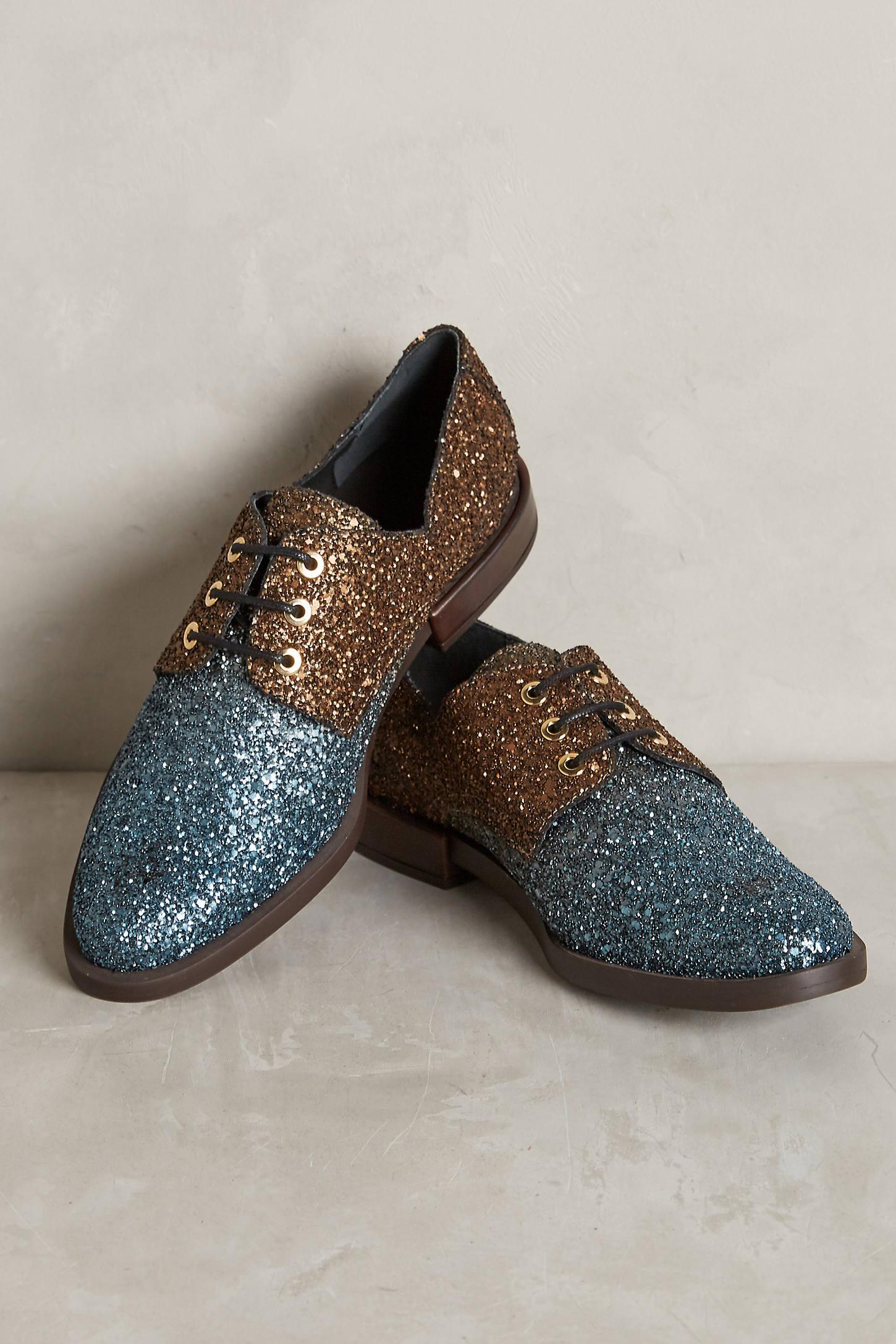 Miista Adelaide Glitter Oxfords