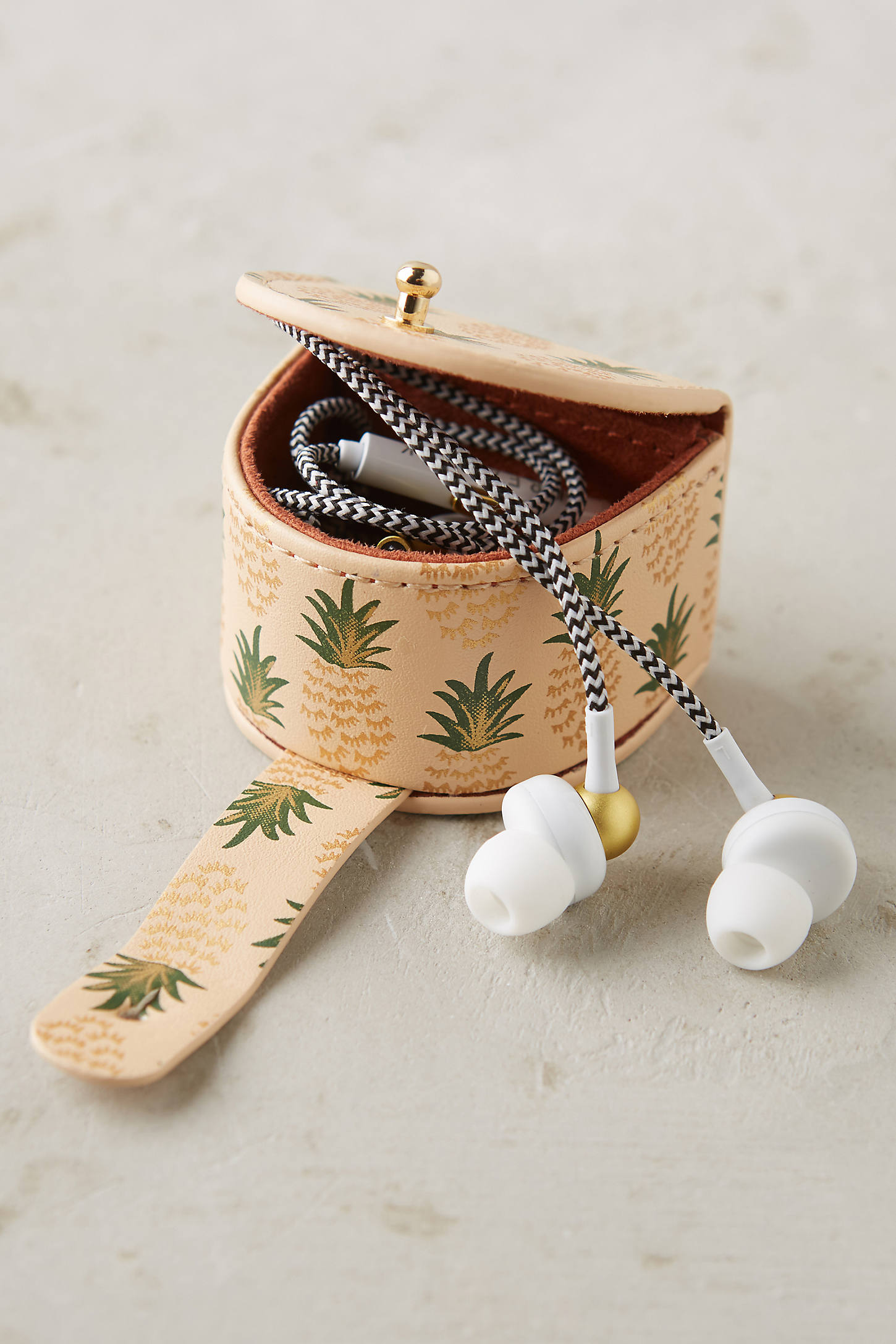 Blushing Pineapple Earbud Holder
