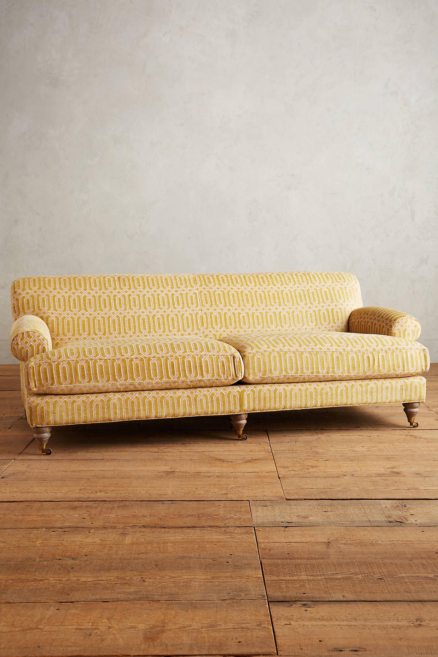 Trellis-Woven Willoughby Sofa