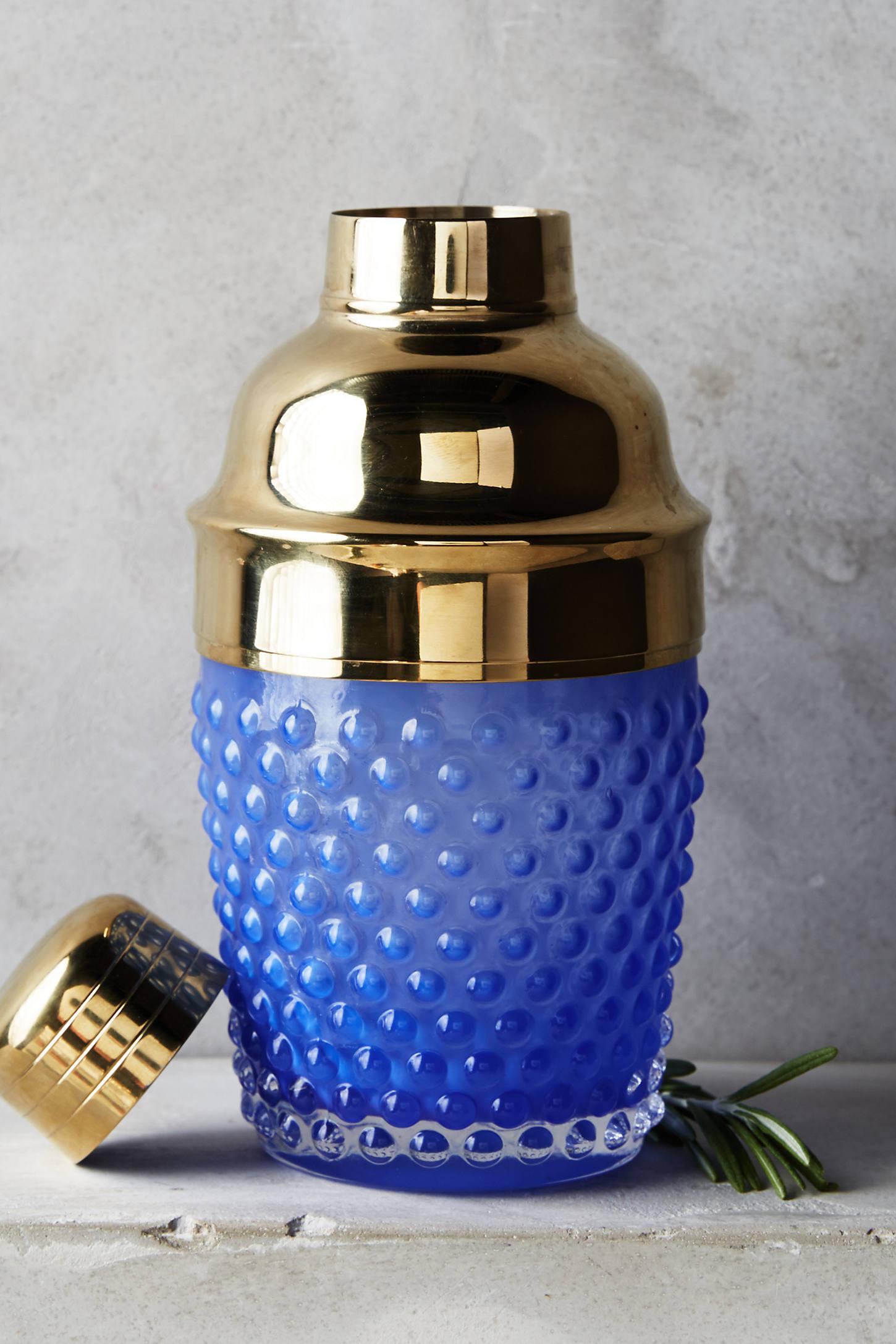 Hobnail Glass Cocktail Shaker