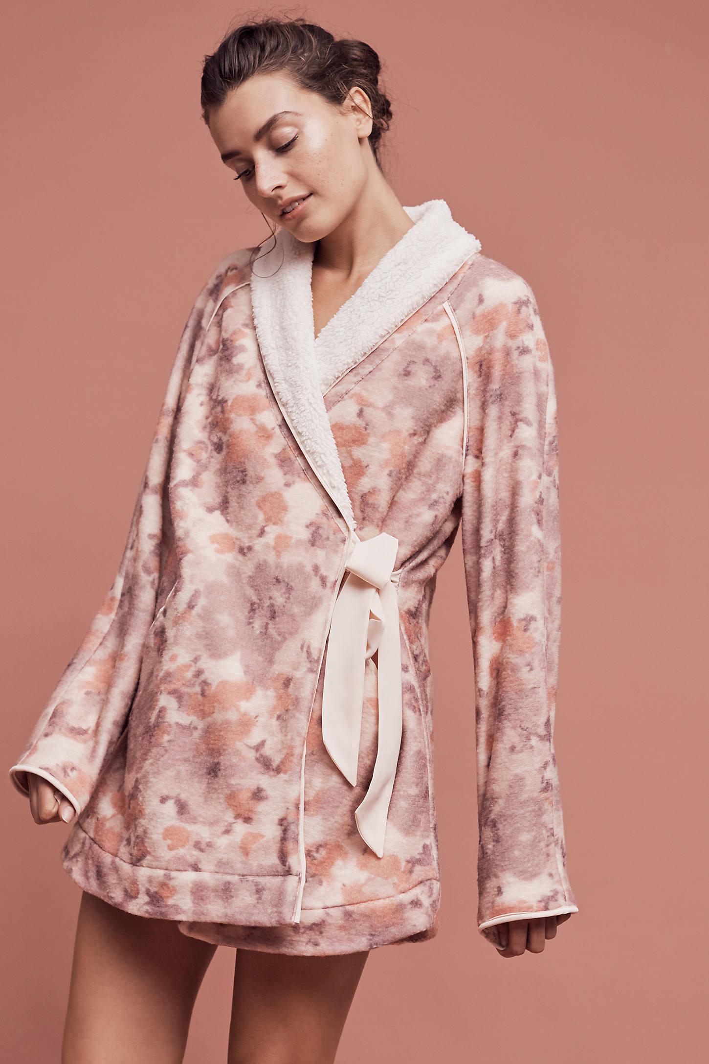 Printed Sherpa Robe