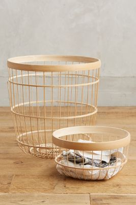 Bamboo Open-Weave Basket