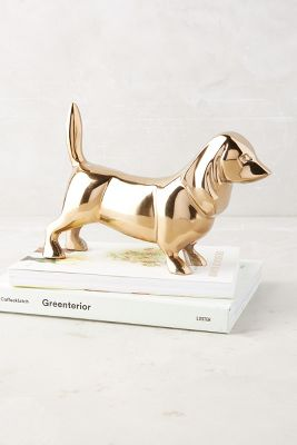Golden Dachshund Decorative Object