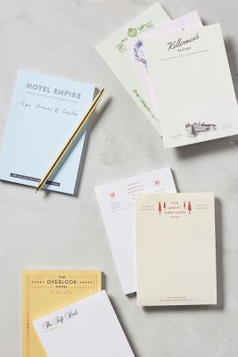 Fictional Hotels Notebook Set