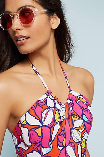 U-Neck One-Piece Swimsuit