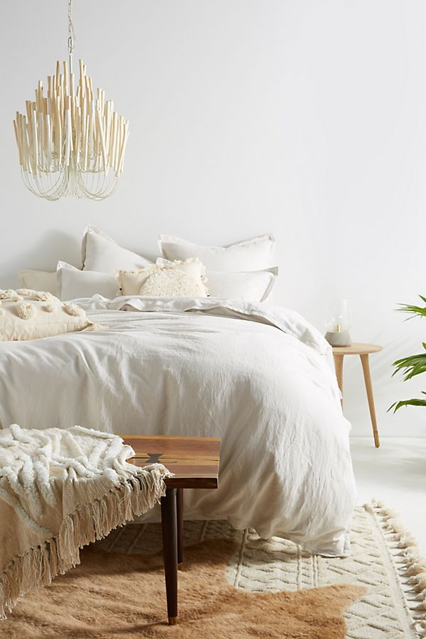 Slide View: 1: Relaxed Cotton-Linen Duvet Cover