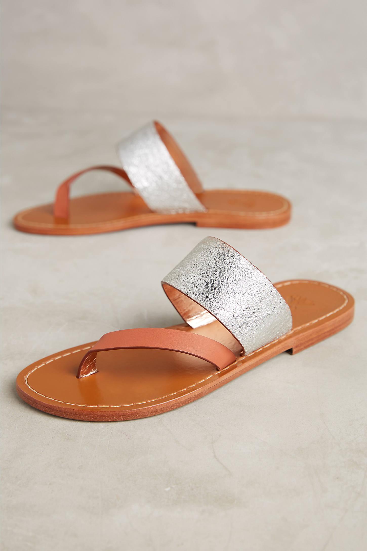 Sanchita Berberis Metallic Sandals