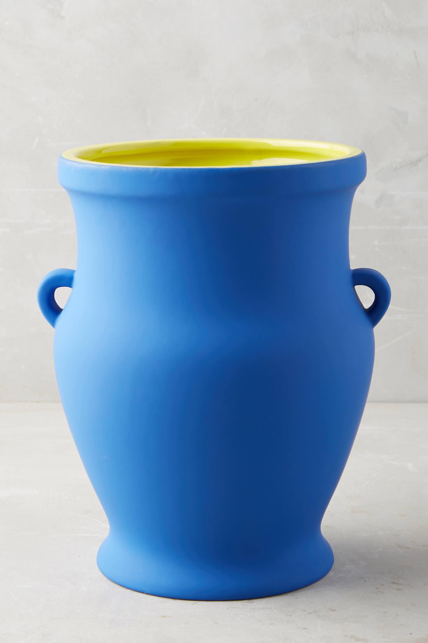Pierre Colour-Contrast Cobalt Pot