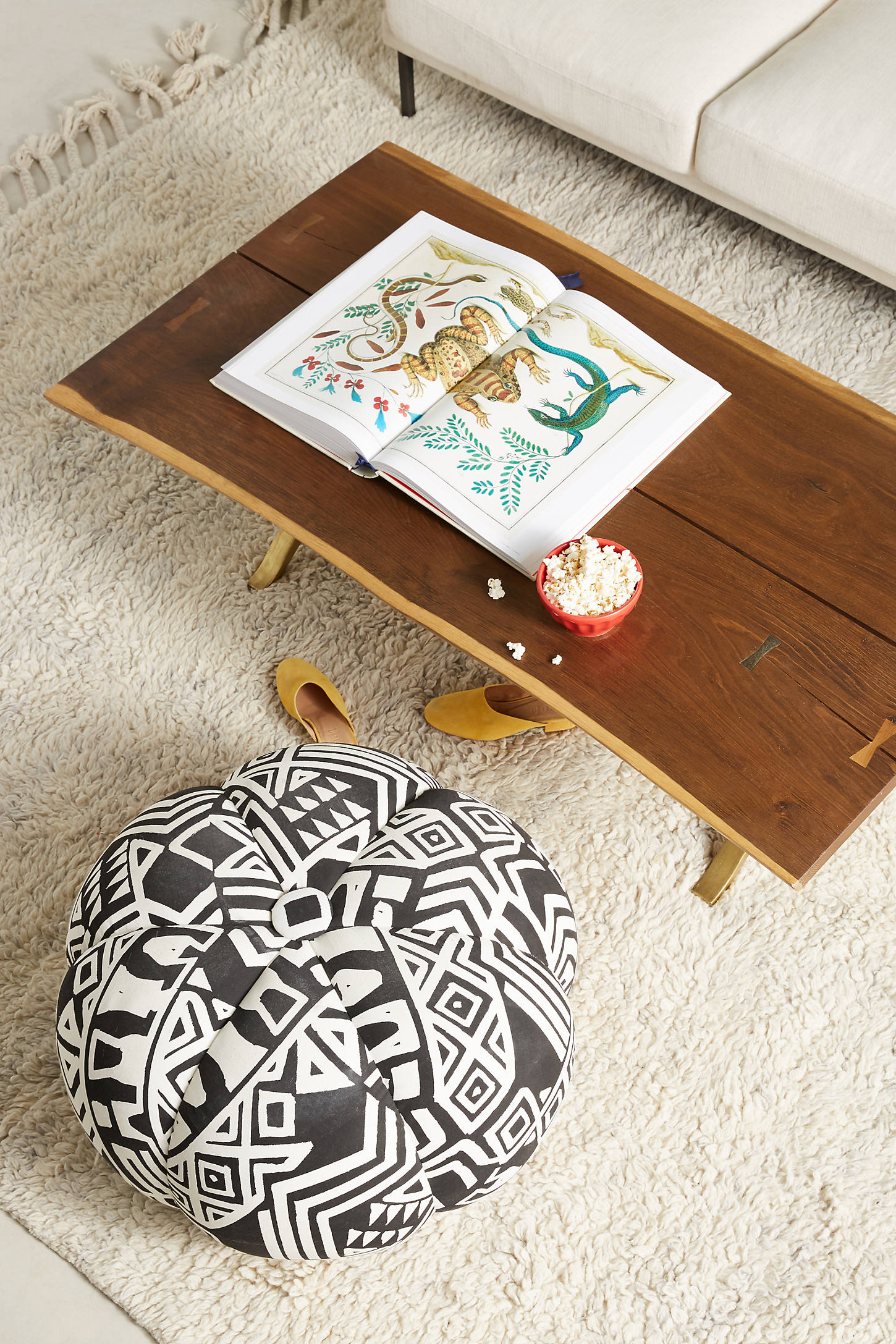 WHIT Geo-Printed Pouf