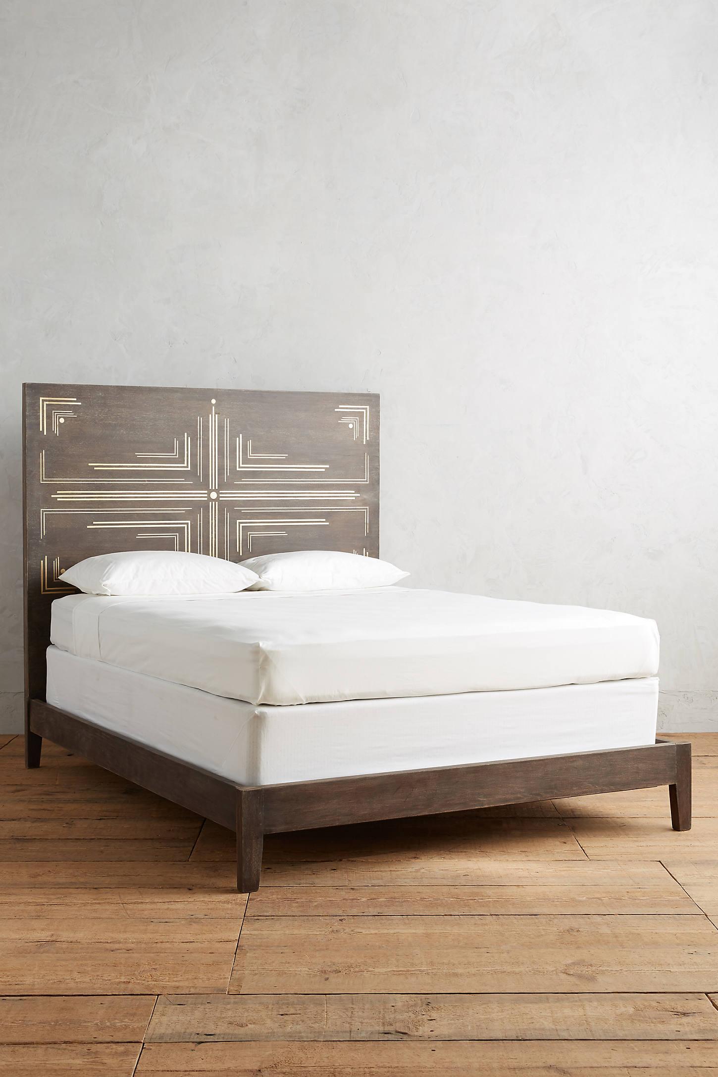 Geo Brass Inlay Bed