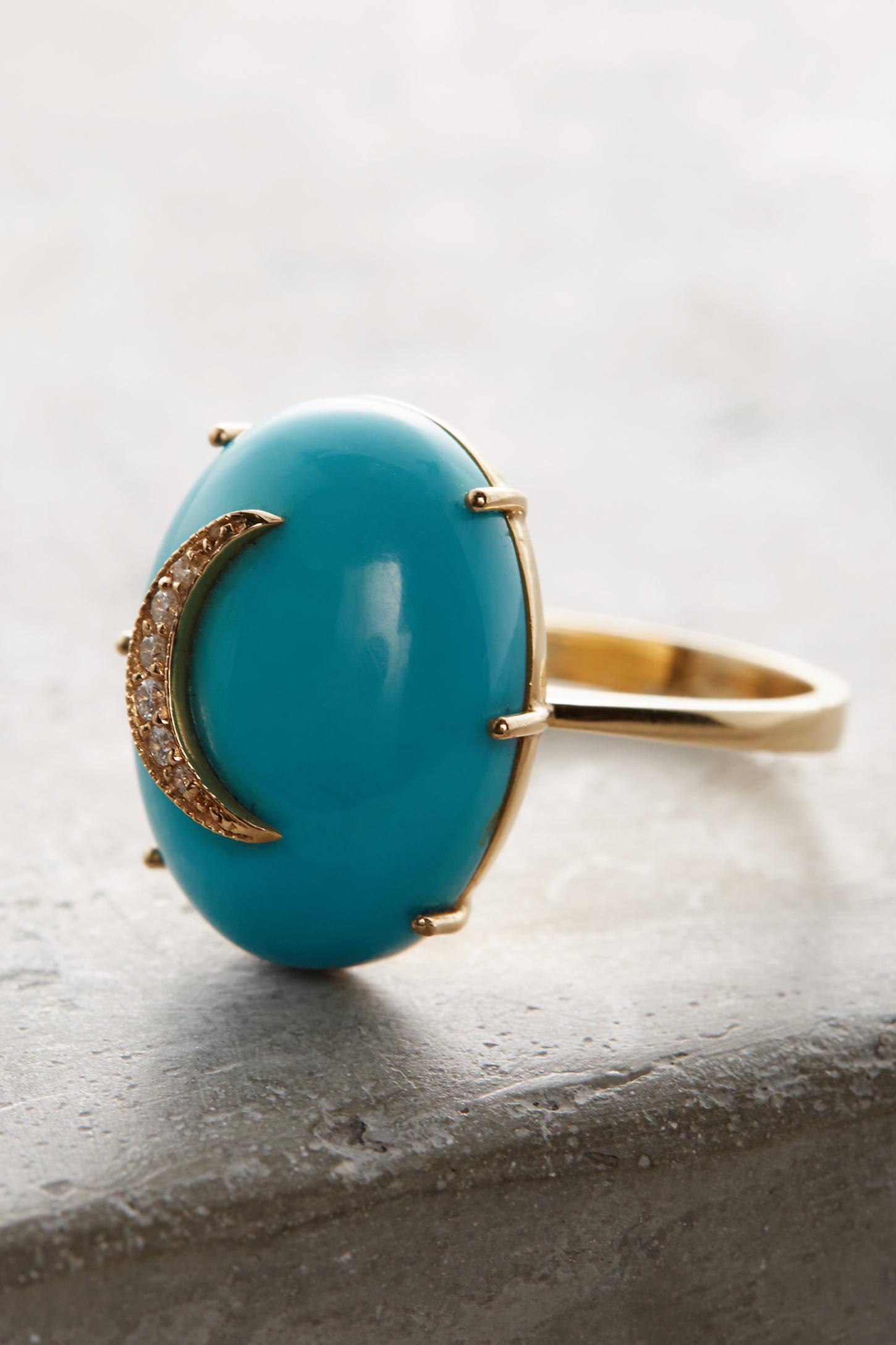 Turquoise Cresent Ring