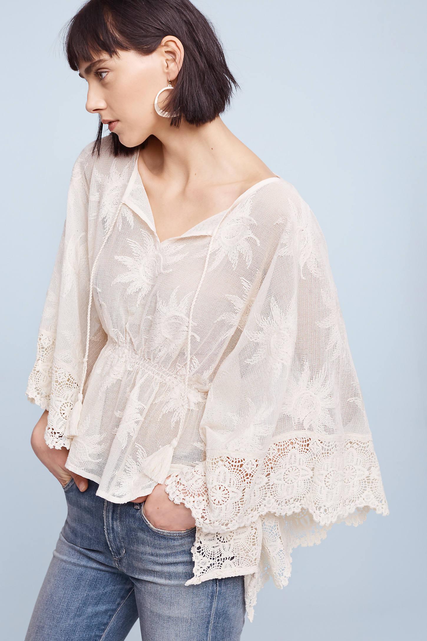 Estella Lace Top, Ivory